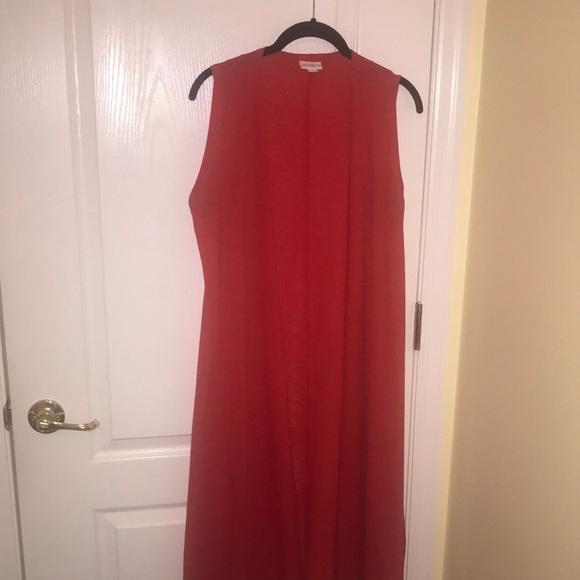 LuLaRoe Red size small Joy sleeveless cardigan